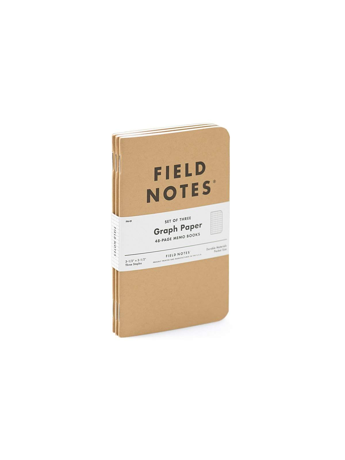 Field Notes Original Kraft 3 Pack Graph Paper - MORE by Morello Indonesia