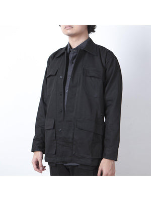 Qutn Field Jacket II Black Canvas