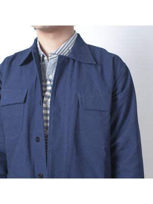Qutn Field Jacket II Blue Canvas - MORE by Morello Indonesia