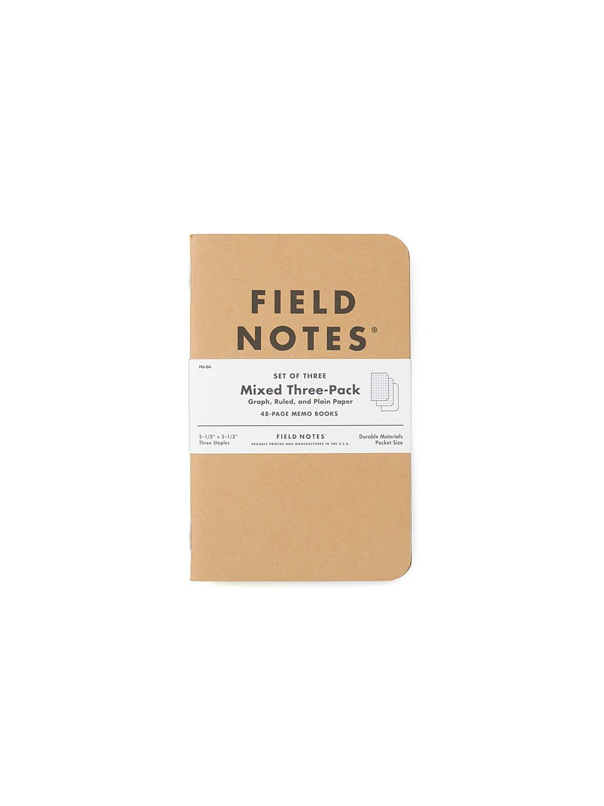 Field Notes Original Kraft 3 Pack Mixed Paper - MORE by Morello Indonesia
