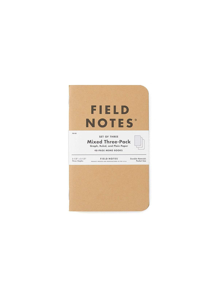 Field Notes Original Kraft 3 Packs Mixed Paper - MORE by Morello