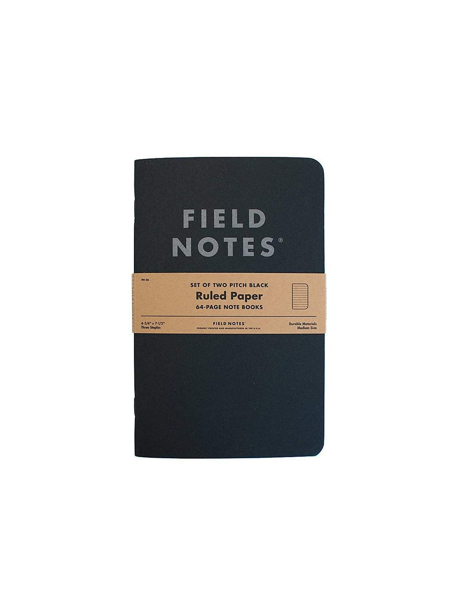 Field Notes Pitch Black Note Book 2 Packs Ruled Paper - MORE by Morello