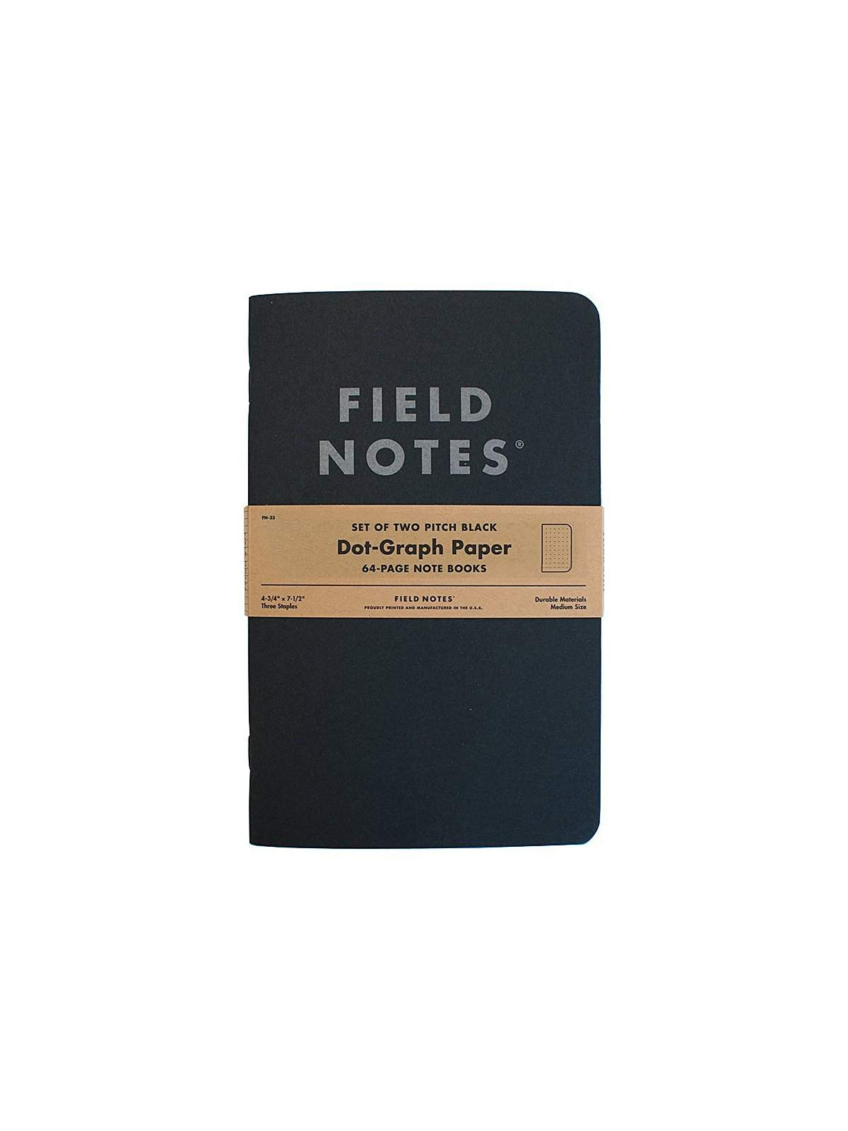 Field Notes Pitch Black Note Book 2 Pack Dot Graph Paper - MORE by Morello Indonesia