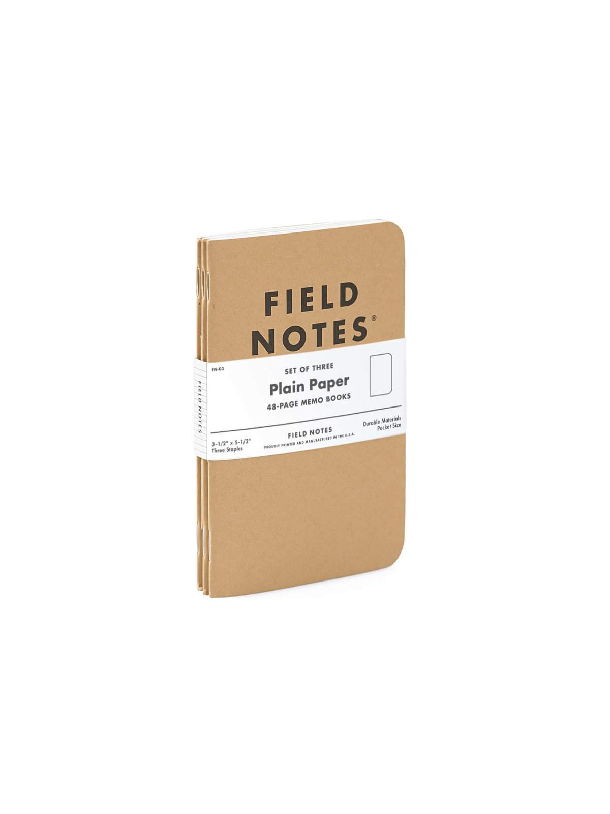 Field Notes Original Kraft 3 Pack Plain Paper - MORE by Morello Indonesia