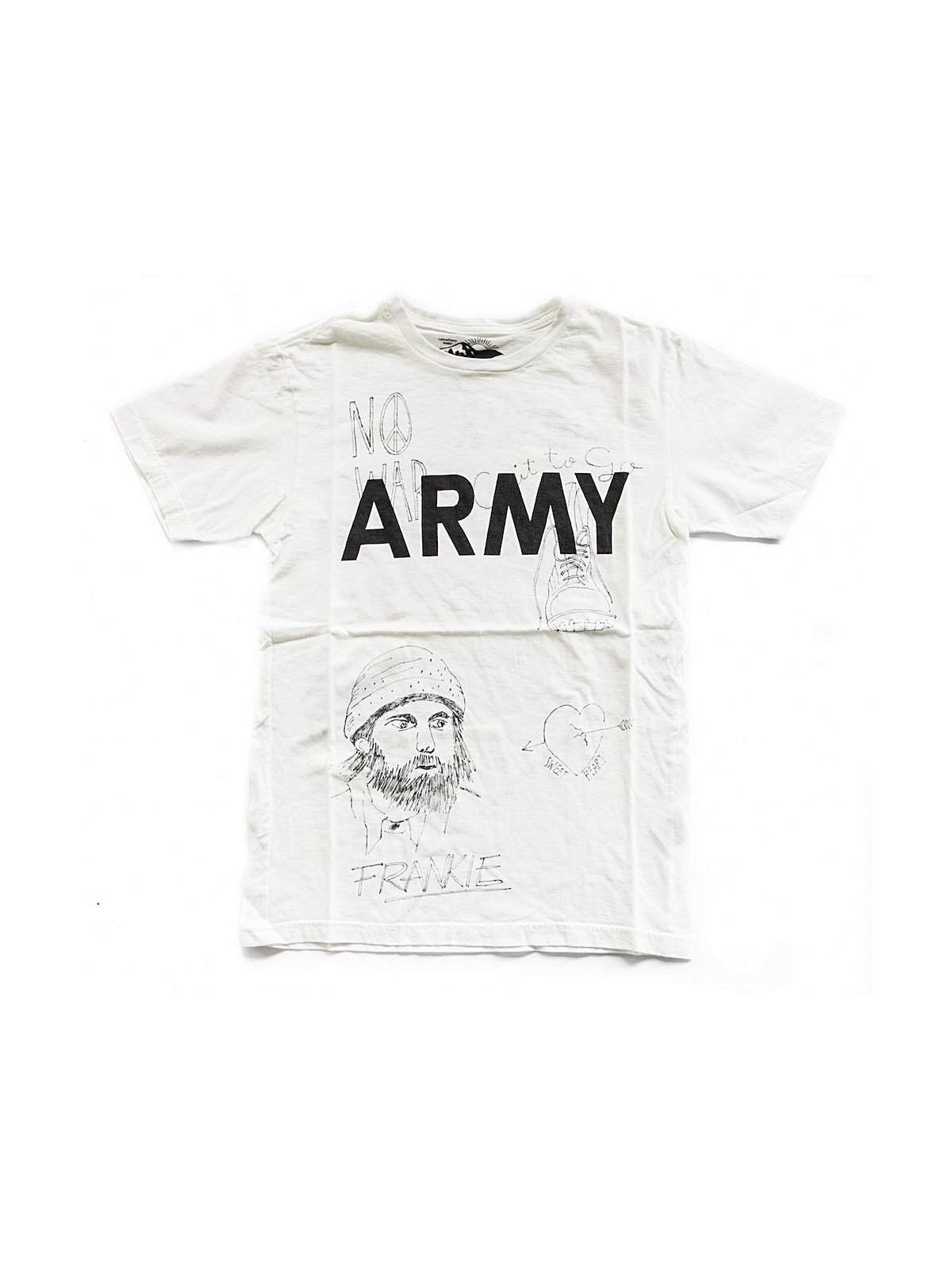 Free Rage Army Hand Paint Tee White - MORE by Morello Indonesia