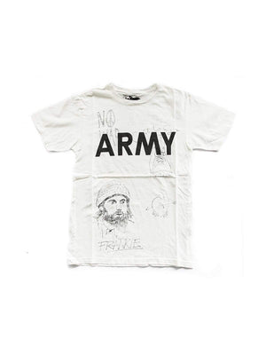 Free Rage Army Hand Paint Tee White - MORE by Morello