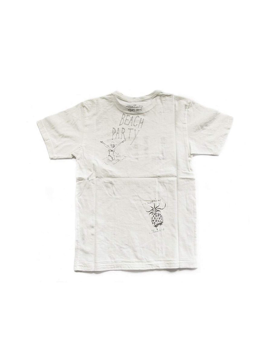 Free Rage Life Hand Paint Tee White - MORE by Morello