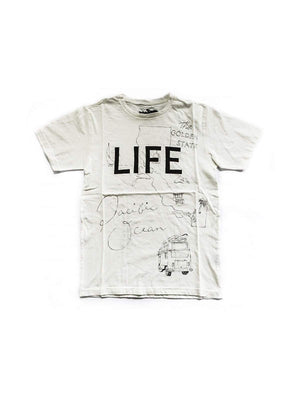 Free Rage Life Hand Paint Tee White-Tees-Free Rage-XS-MORE by Morello