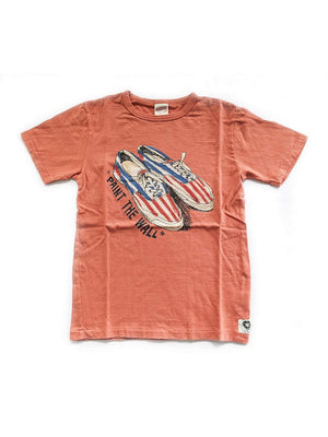 Free Rage Paint The Wall Tee Coral - MORE by Morello