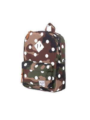 Herschel Heritage Woodland Camo/Polka Dot/White Rubber - MORE by Morello