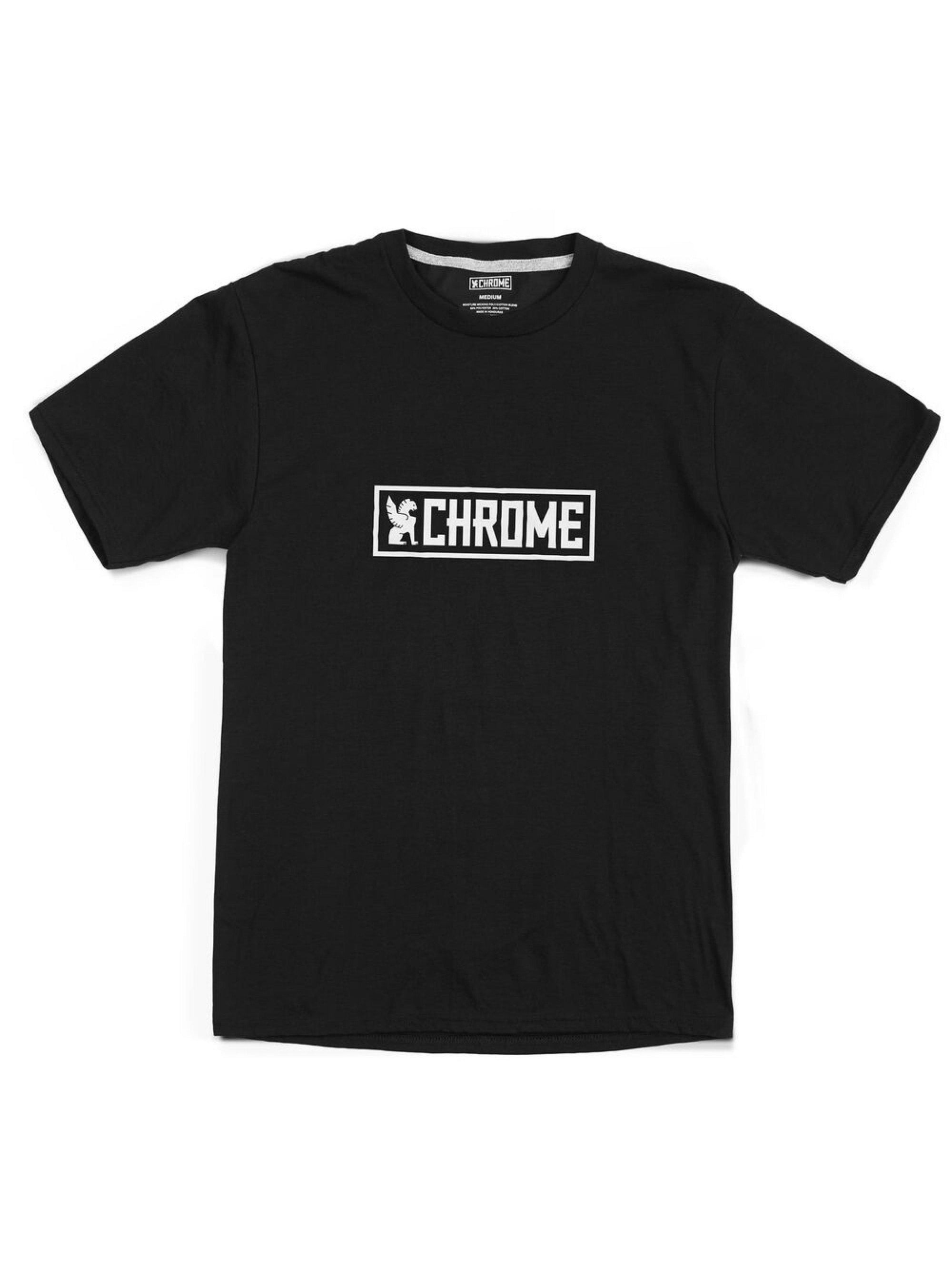 Chrome Industries Horizontal Border Logo Tee Black White