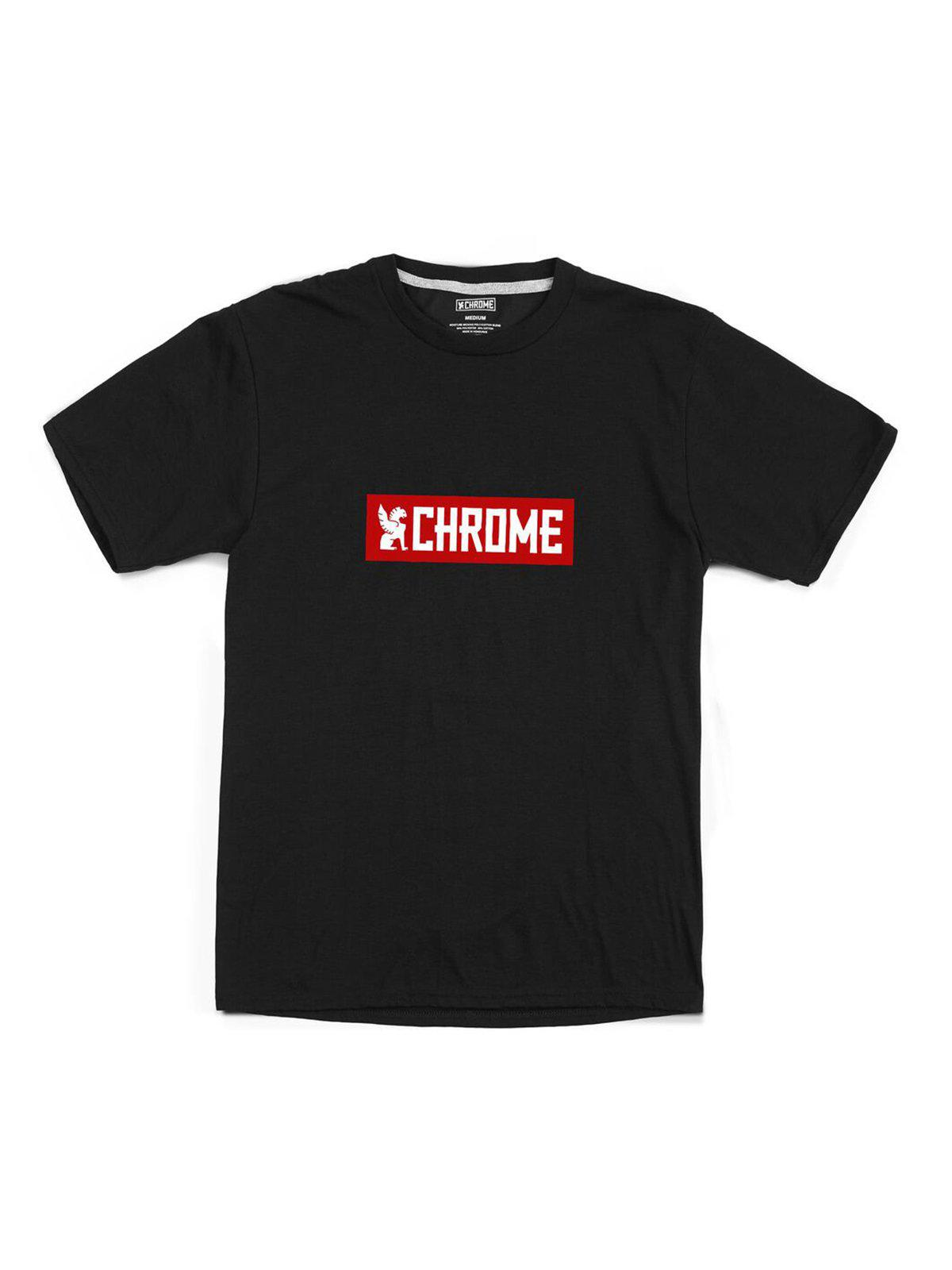 Chrome Industries Horizontal Logo Tee Black Red