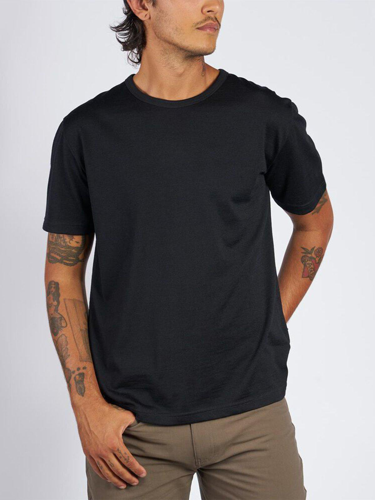 Chrome Industries Merino Short Sleeve Tee Black