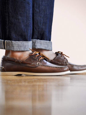 Oakstreet Bootmakers Natural Boat Shoe - MORE by Morello