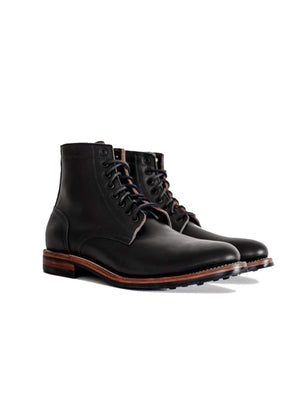 Oakstreet Bootmakers Black Dainite Captoe Trench Boot - MORE by Morello Indonesia