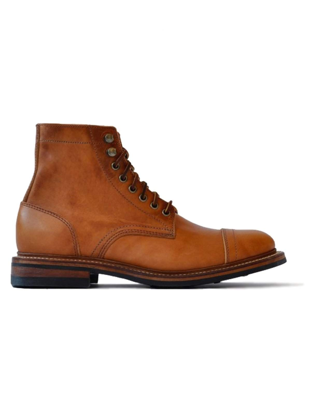 Oakstreet Bootmakers English Tan Dublin Captoe Dainite Trench Boot - MORE by Morello Indonesia