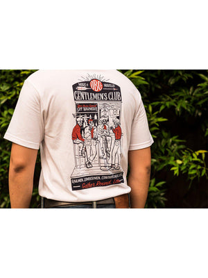 Oldblue Co. x MORE by Morello Tee The Gentlemen's Club White - MORE by Morello Indonesia