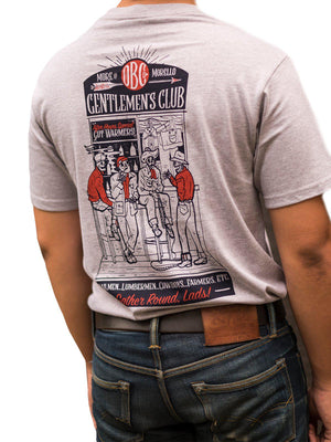 Oldblue Co. x MORE by Morello Tee The Gentlemen's Club Ash Grey - MORE by Morello - Indonesia