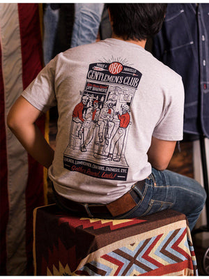 Oldblue Co. x MORE by Morello Tee The Gentlemen's Club Ash Grey - MORE by Morello Indonesia