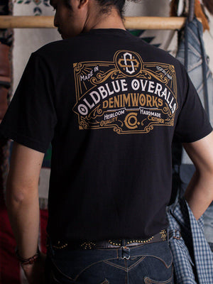 Oldblue Co. Tee The Heirloom Overalls Black - MORE by Morello Indonesia