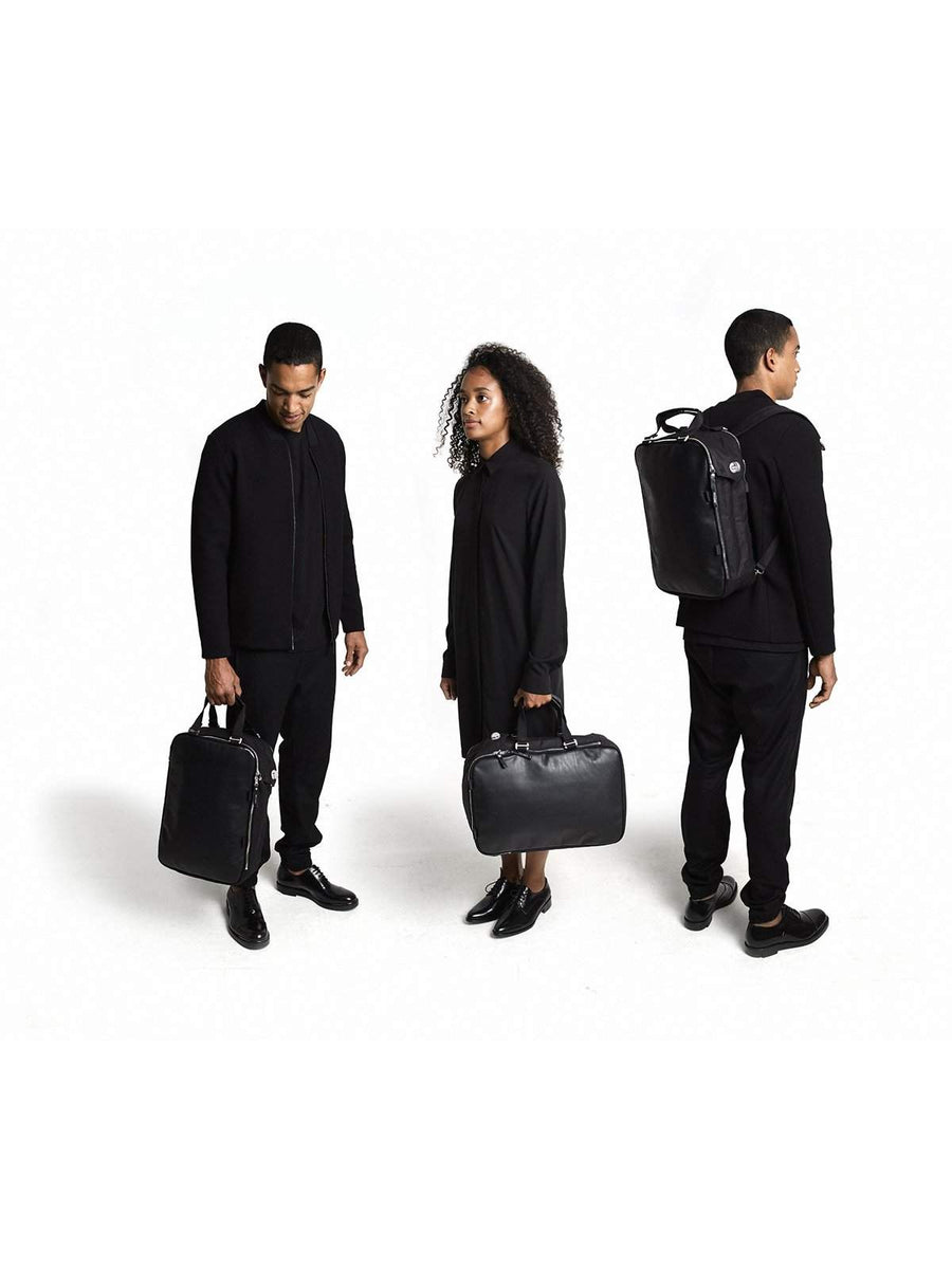 Qwstion Daypack Black Leather - MORE by Morello Indonesia