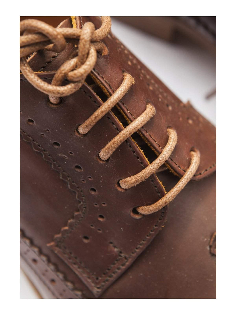 Santalum Longwing Derby Shoes Brown-Boots-Santalum-MORE by Morello