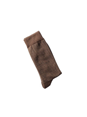 Sinau Socks Krata Wine Dark Brown - MORE by Morello - Indonesia