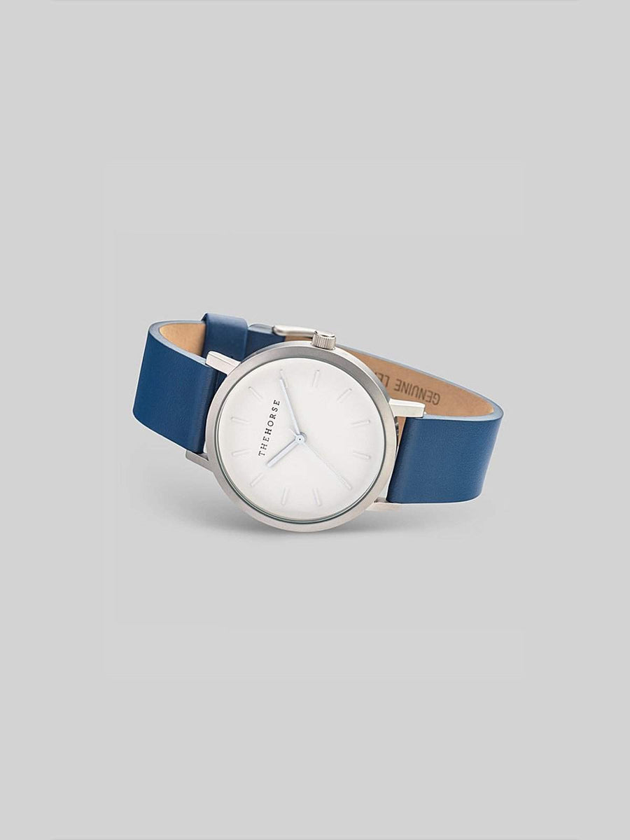 The Horse Brushed Silver / Navy Watch - MORE by Morello - Indonesia
