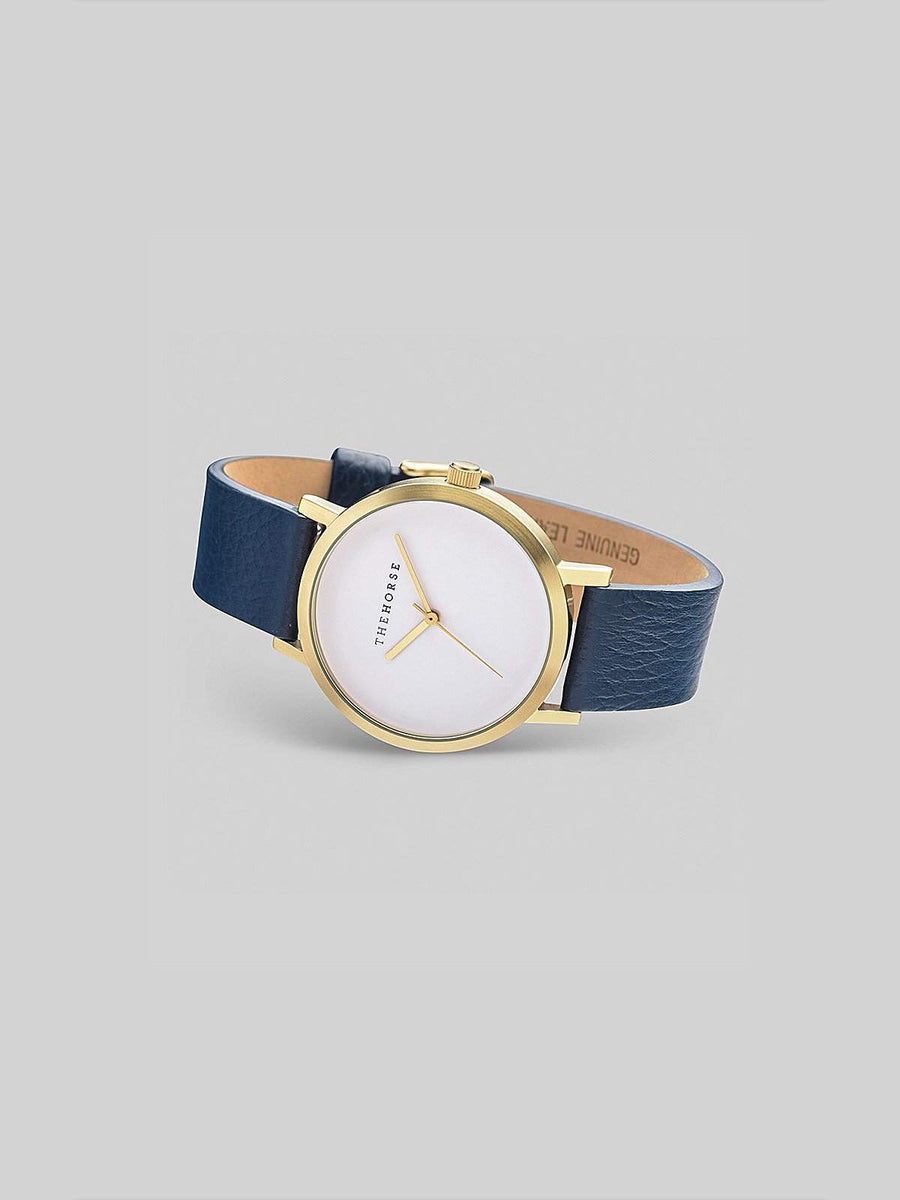 The Horse Brushed Gold / Navy-Watches-The Horse-MORE by Morello