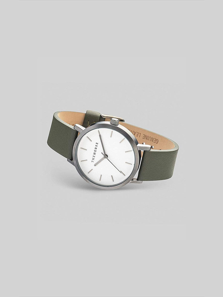 The Horse Brushed Gunmetal / Olive Watch - MORE by Morello - Indonesia