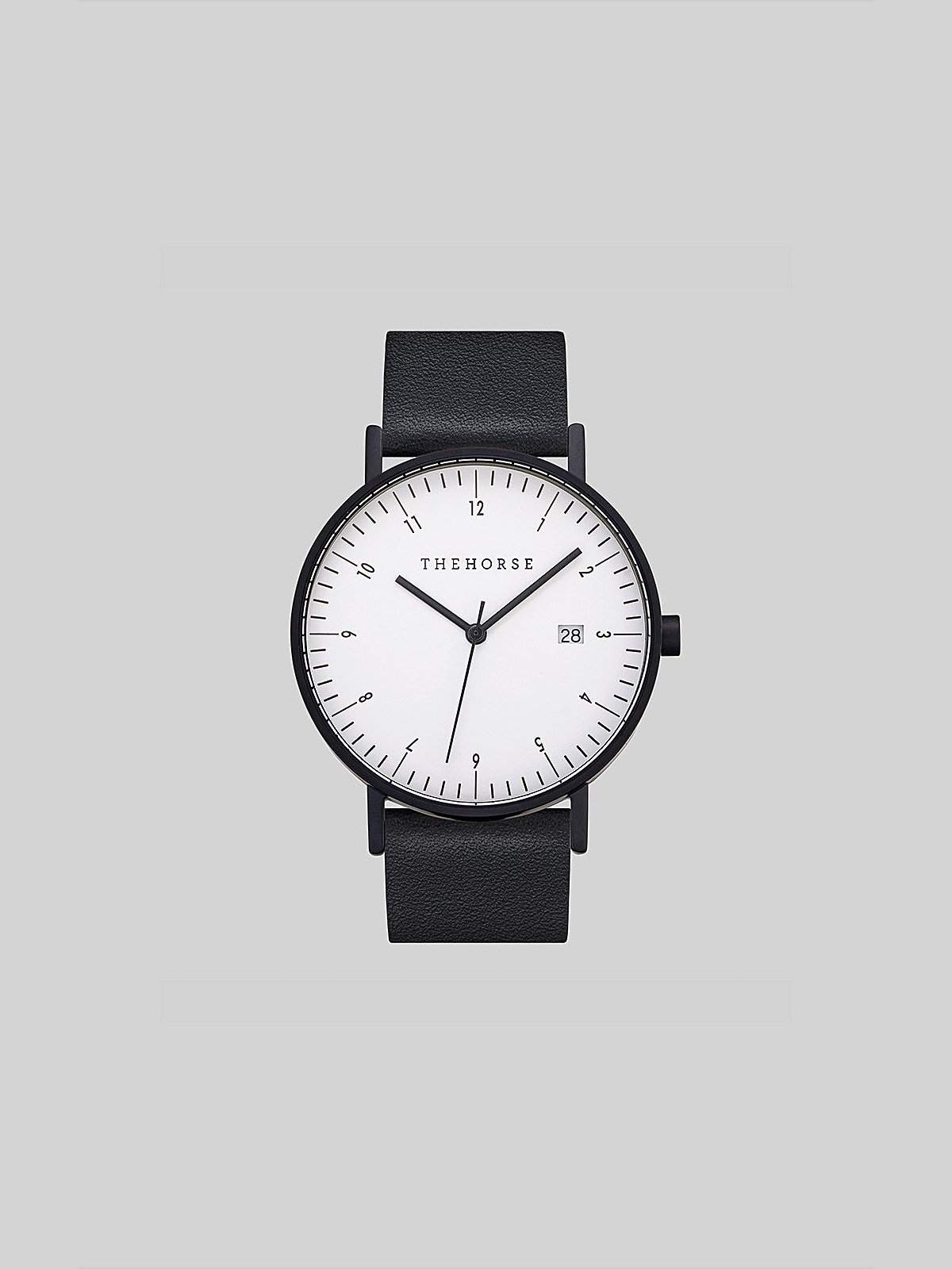 The Horse D-Series Black Black Leather Watch - MORE by Morello Indonesia