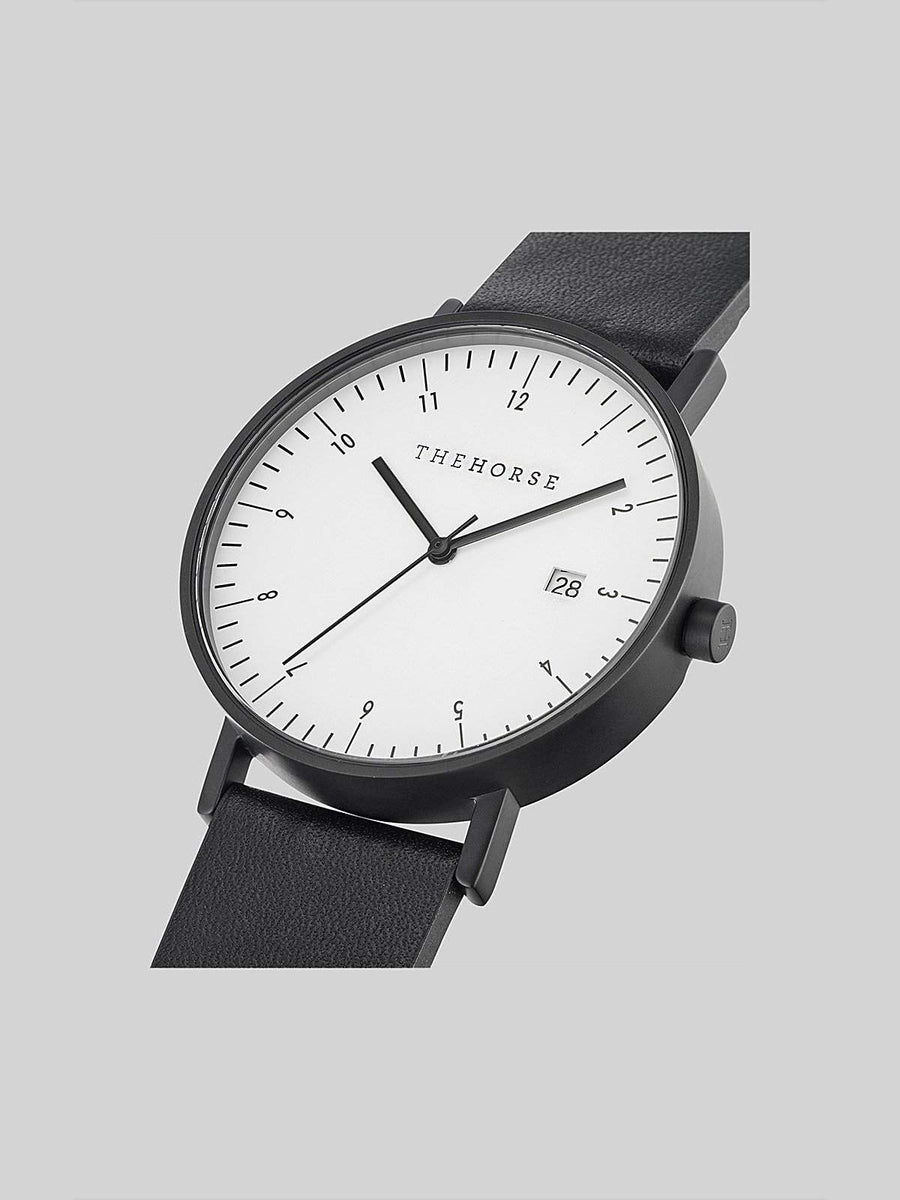 The Horse D-Series Black Black Leather Watch-Watches-The Horse-MORE by Morello