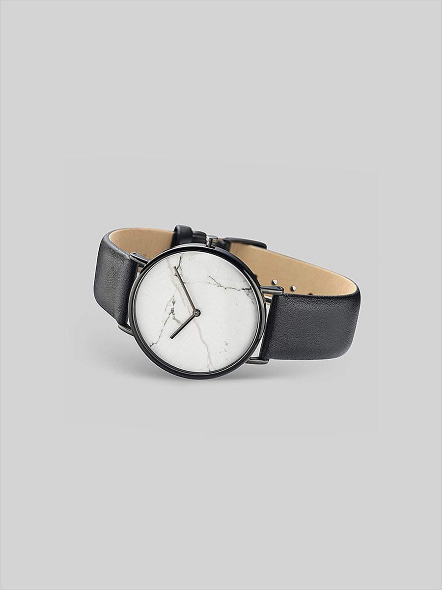 The Horse The Stone White Stone Black Leather-Watches-The Horse-MORE by Morello