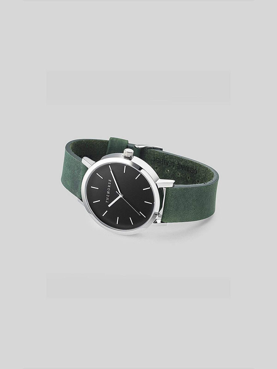 The Horse Polished Steel / Mineral Green Leather-Watches-The Horse-MORE by Morello