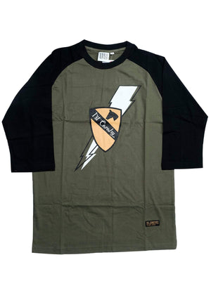 US Comp4ny Death From Above Raglan Olive Green Black-Tees-US Comp4ny-MORE by Morello