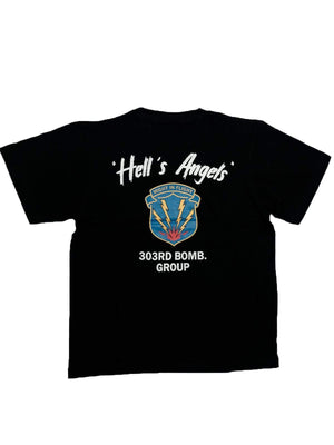 US Comp4ny Mighty Eight Hells Angels Tees Black - MORE by Morello Indonesia