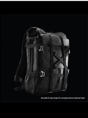 Life Behind Bars The Peloton Rolltop Backpack 30-42L Asphalt - MORE by Morello - Indonesia