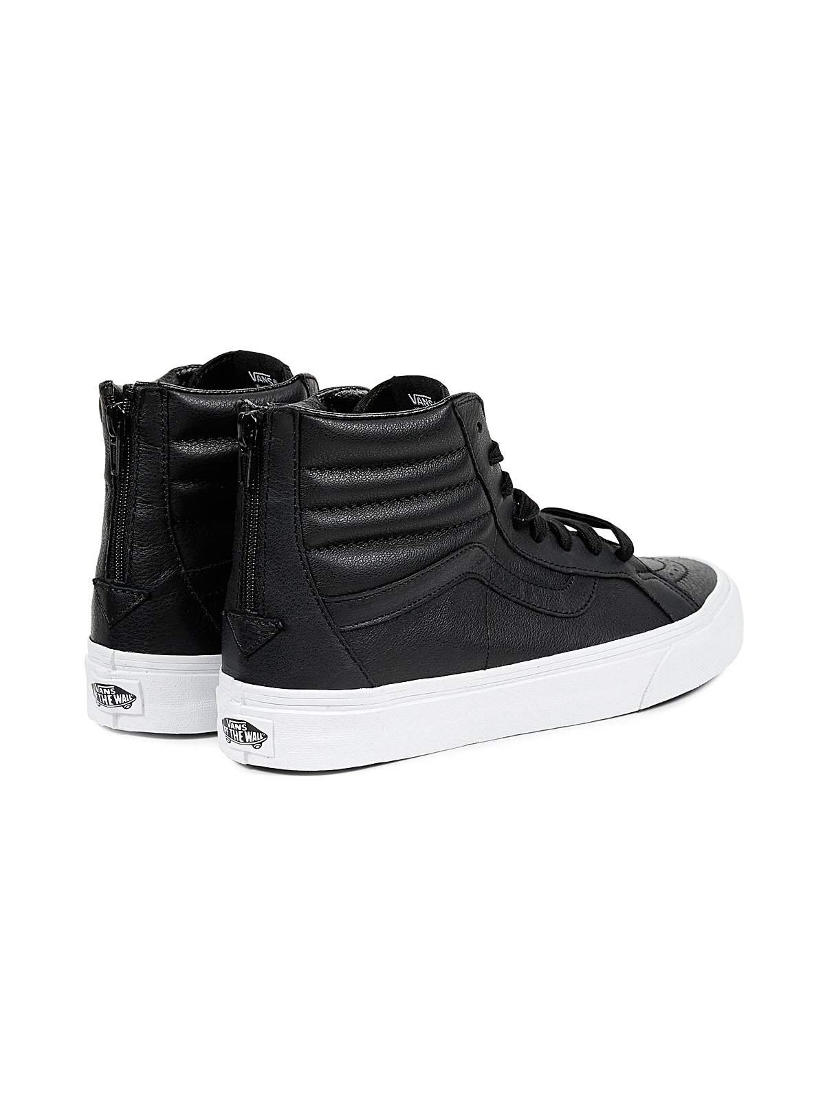 46aba84844 Vans SK8 HI Reissue Zip Premium Leather Black - MORE by Morello ...