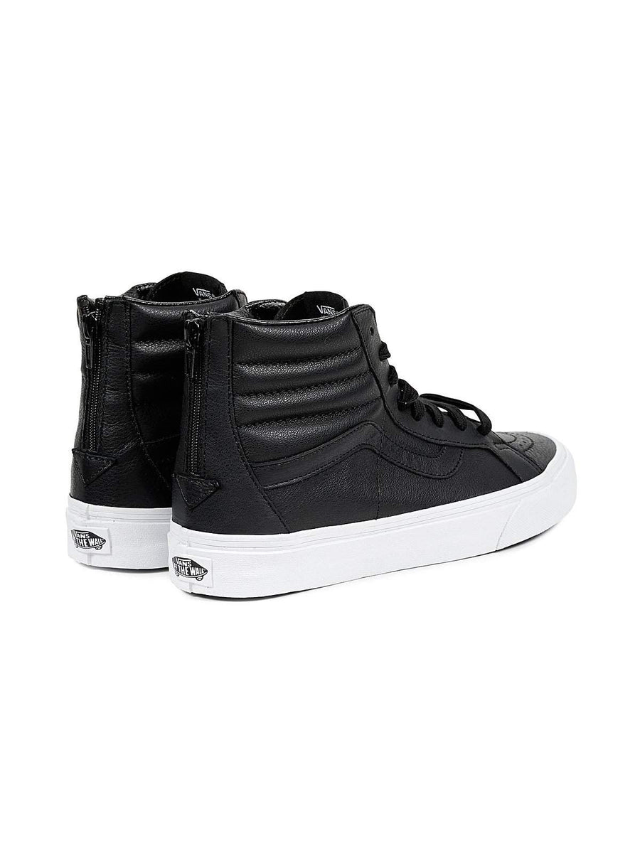 Vans SK8 HI Reissue Zip Premium Leather Black-Sneakers-Vans-US 10-MORE by Morello