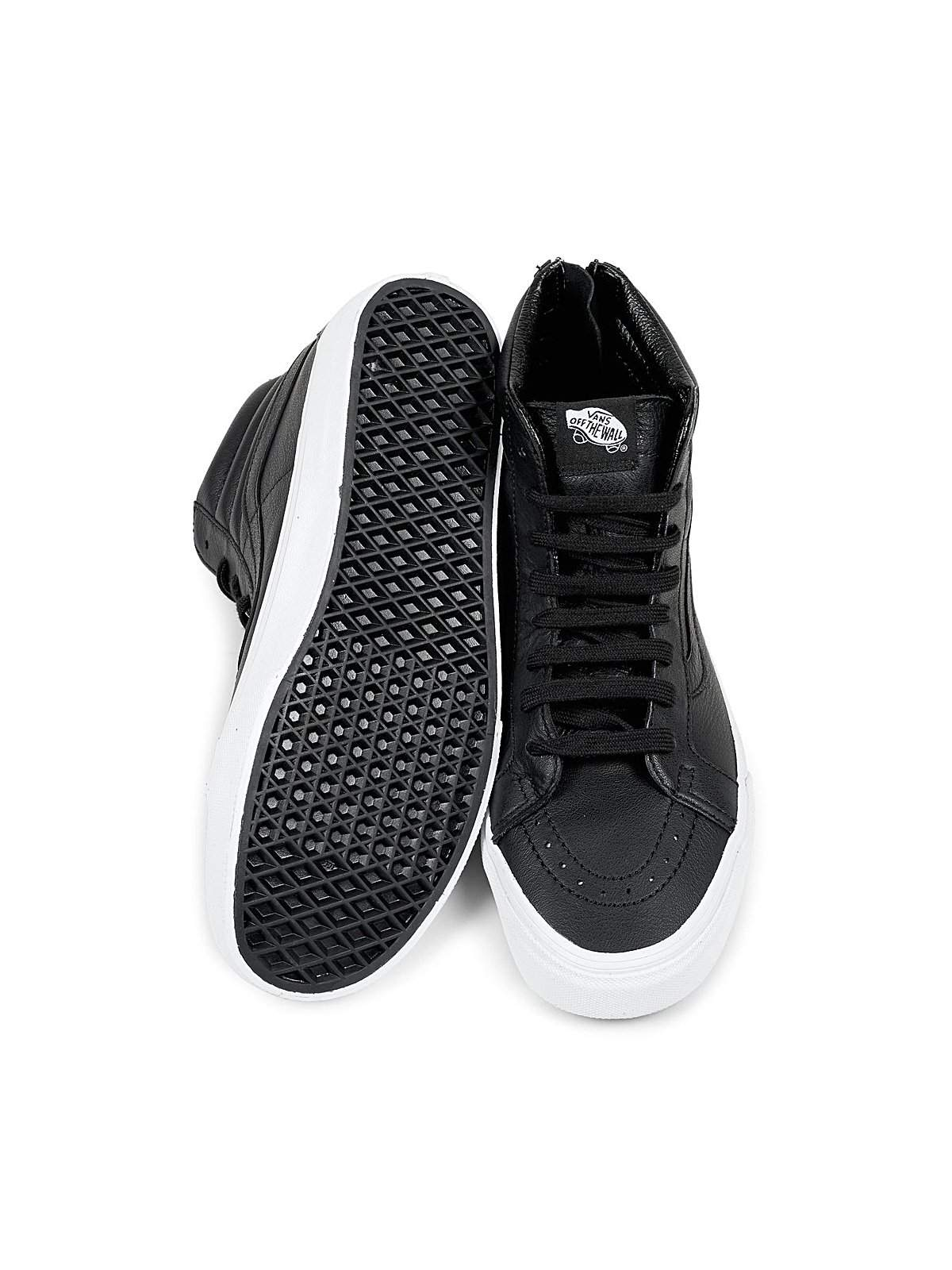 874ef1e1963f Vans SK8 HI Reissue Zip Premium Leather Black - MORE by Morello ...