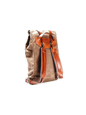 Tanner Goods Wilderness Rucksack Waxed Field Tan - MORE by Morello - Indonesia