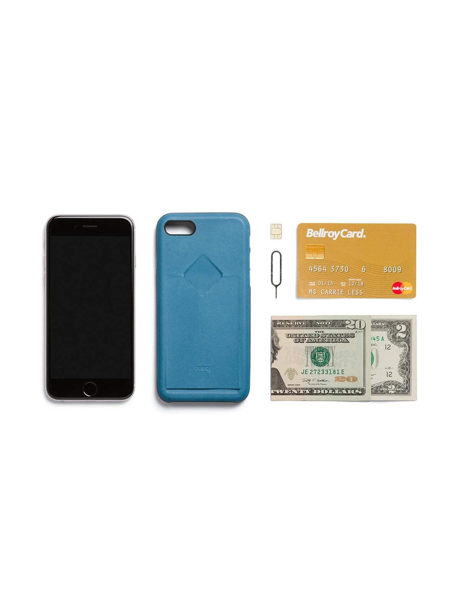Bellroy Phone Case 1 Card iPhone 7 / 8 Arctic Blue - MORE by Morello Indonesia