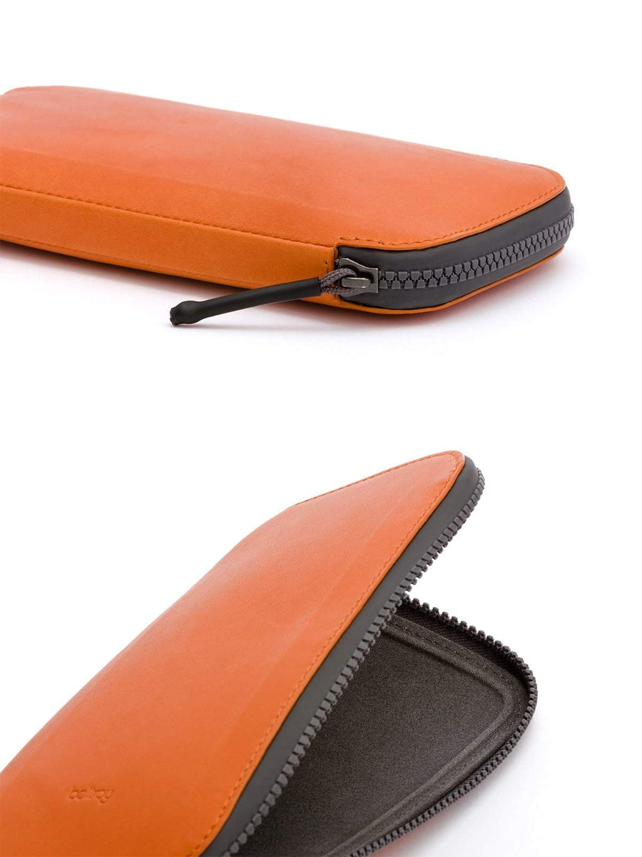 Bellroy All Conditions Phone Pocket Plus Leather Burnt Orange