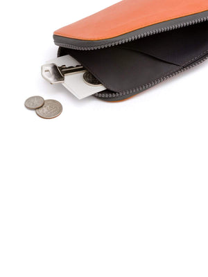 Bellroy All Conditions Phone Pocket Plus Leather Burnt Orange - MORE by Morello Indonesia