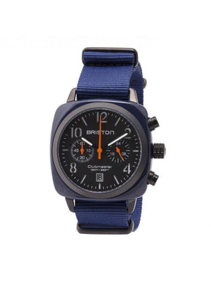 Briston Clubmaster Classic Acetate Chronograph Navy Military PVD 40mm - MORE by Morello Indonesia