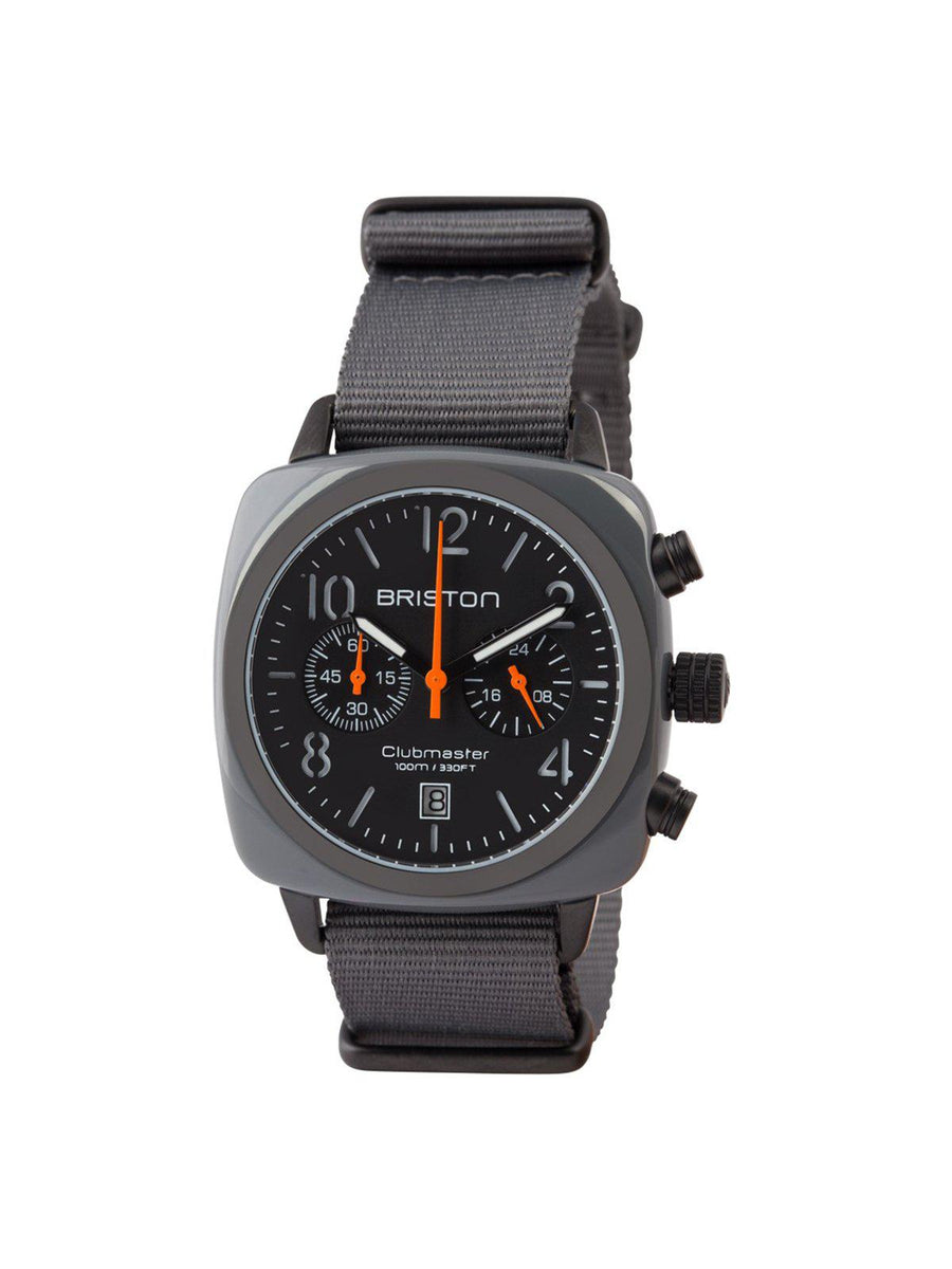 Briston Clubmaster Classic Acetate Chronograph Grey Military PVD 40mm - MORE by Morello Indonesia