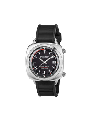Briston Clubmaster Diver Brushed Steel Automatic HMS Black Dial 42mm - MORE by Morello - Indonesia