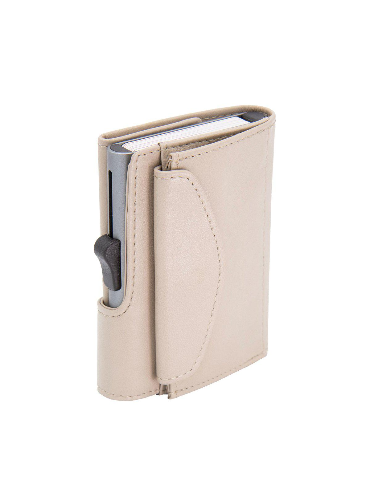 C-Secure XL Italian Leather Wallet with Coin Pouch RFID Chic Grey - MORE by Morello Indonesia
