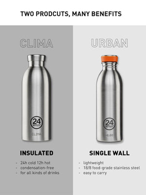 24Bottles Clima Bottle Rose Gold Chrome 500ml - MORE by Morello - Indonesia