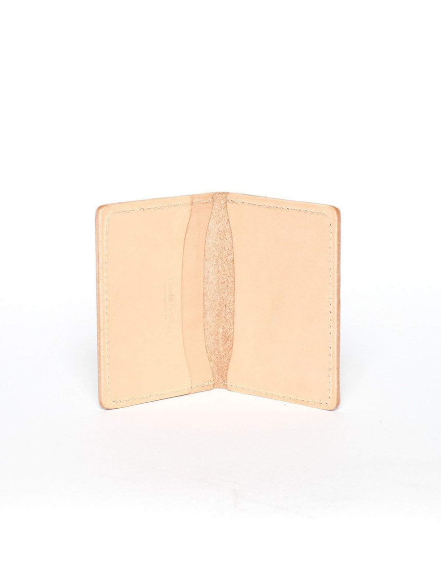 Wood&Faulk Front Pocket Natural Vegetable Tan Wallet - MORE by Morello Indonesia